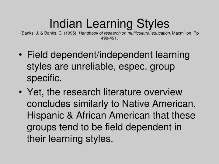 Indian Learning Styles