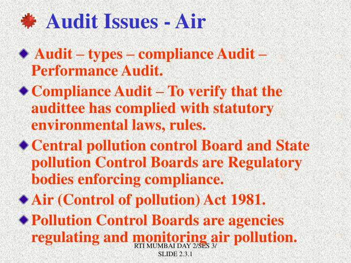 Audit Issues - Air