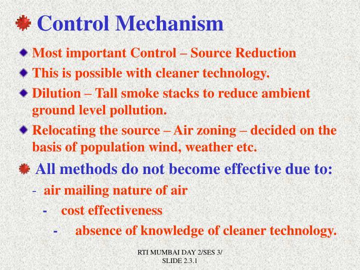 Control Mechanism