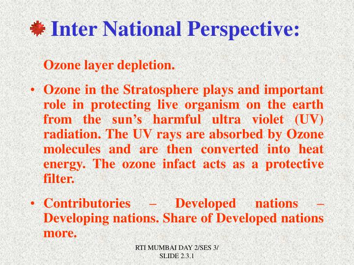 Inter National Perspective:
