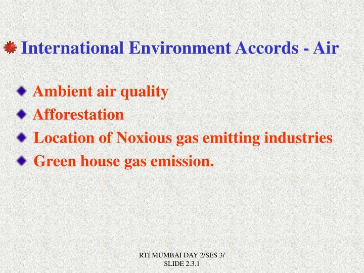 International Environment Accords - Air