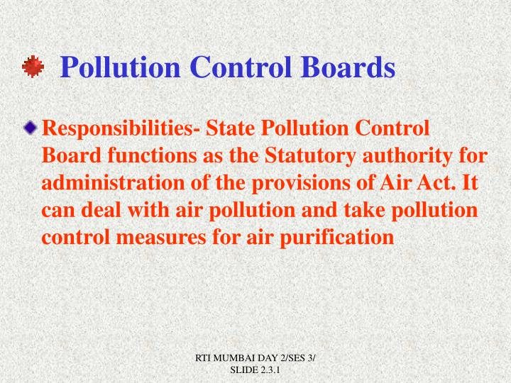 Pollution Control Boards