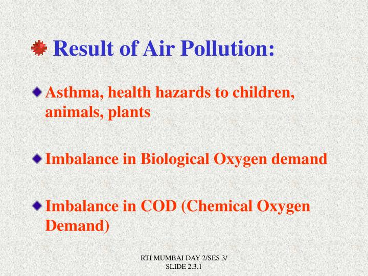 Result of Air Pollution: