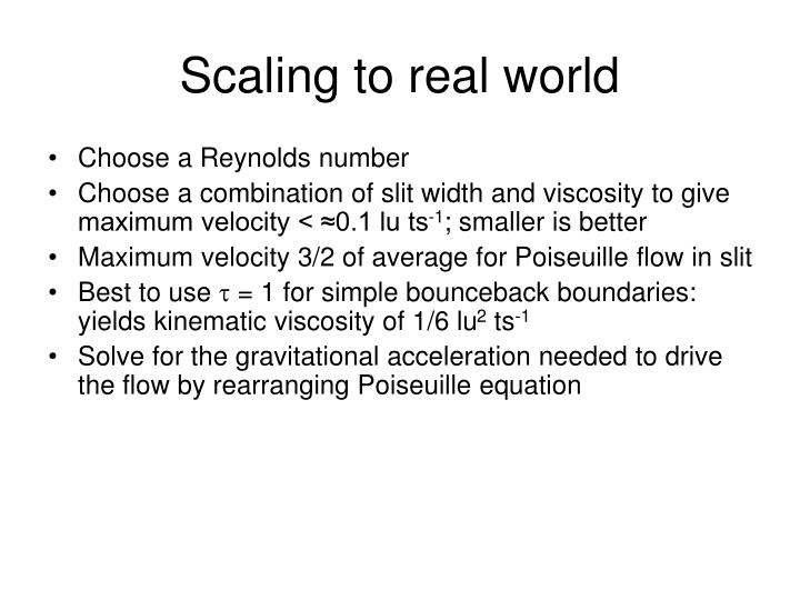 Scaling to real world