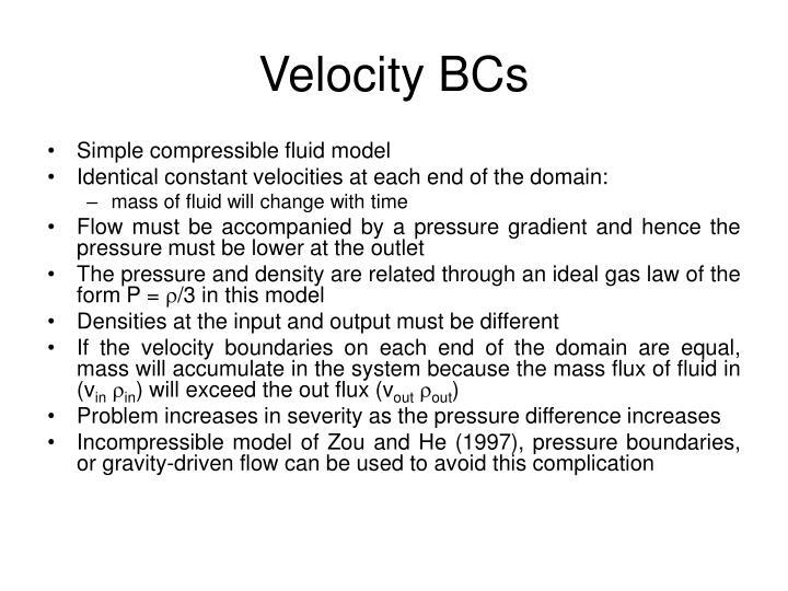 Velocity BCs