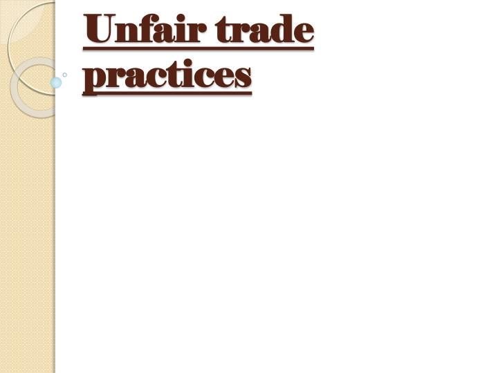 """unfair trade practices The state licensing board for contractors is offering a four (4) hour course on  louisiana's """"unfair trade practices and consumer protection law"""" this course  is."""