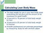 calculating lean body mass
