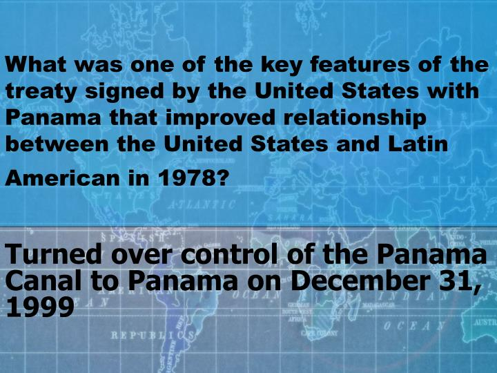 panama and united states relationship
