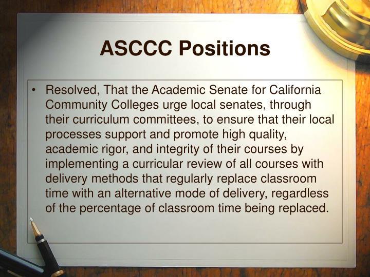 ASCCC Positions