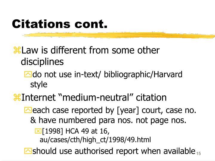 Citations cont.