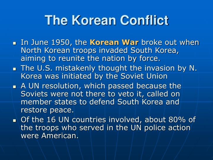 The Korean Conflict
