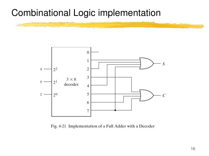 Combinational Logic implementation