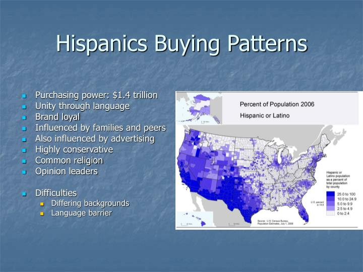 Hispanics Buying Patterns