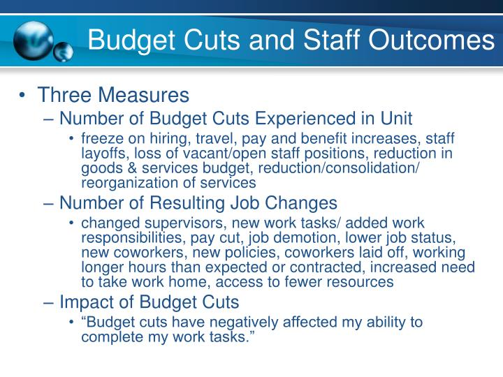 Budget Cuts and Staff Outcomes