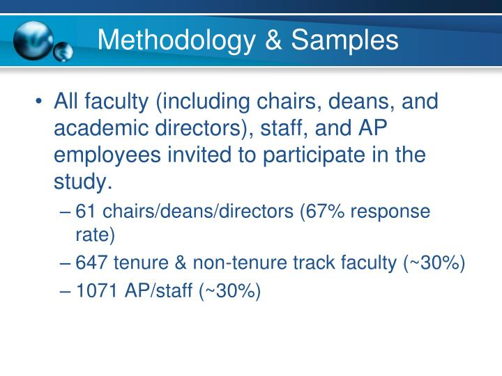 Methodology & Samples