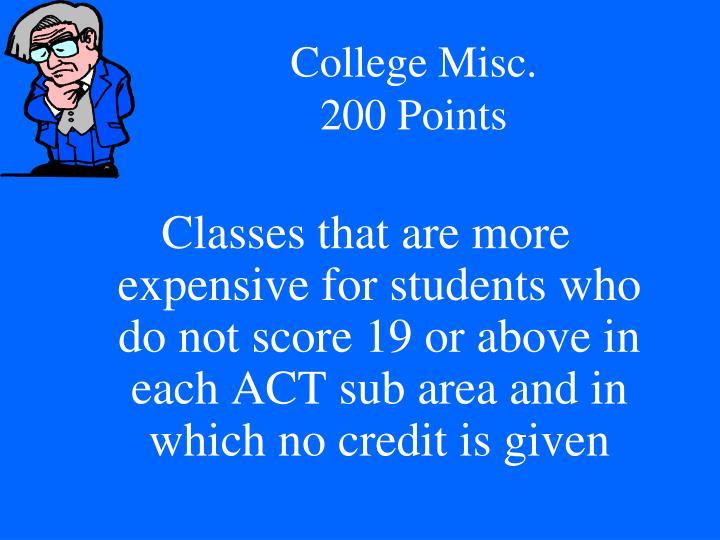College Misc.