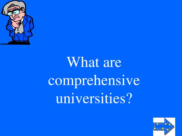 What are comprehensive universities?