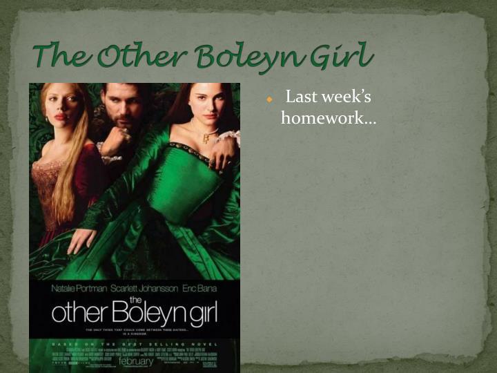 Last week's homework…