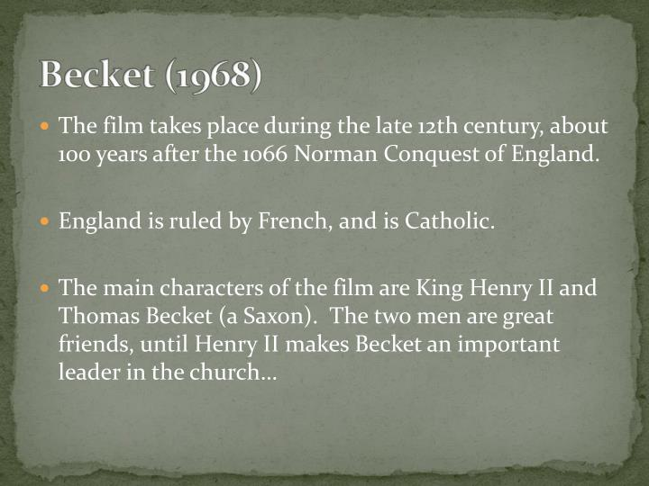 The film takes place during the late 12th century, about 100 years after the 1066 Norman Conquest of England.