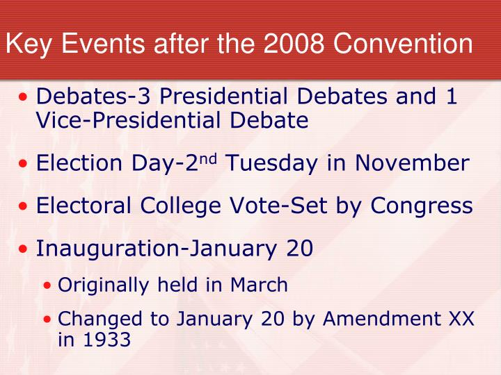 the importance of presidential debates in the electoral process in the united states Important dates in the 2016 presidential would the replacement nominee just receive those electoral appointment confirmation process • united states.