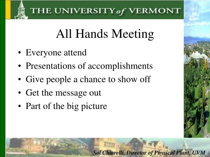 All Hands Meeting
