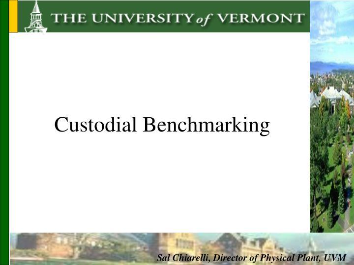 Custodial Benchmarking