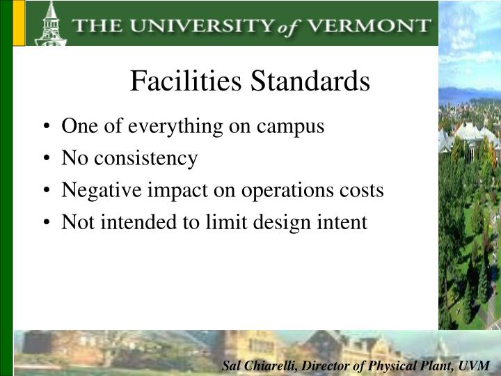 Facilities Standards