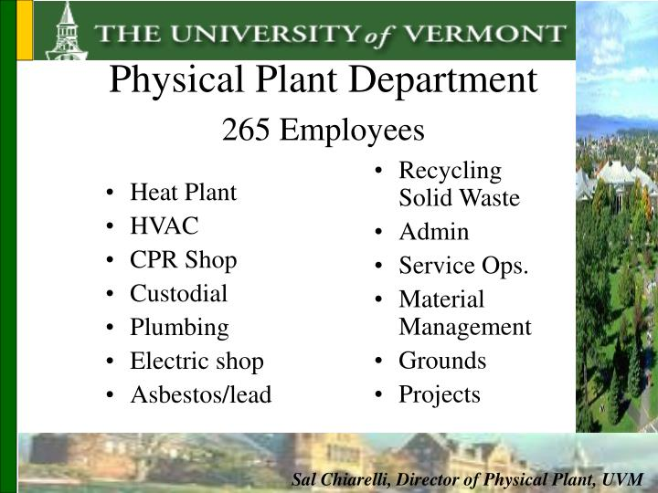 Physical Plant Department