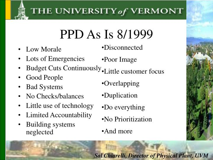 PPD As Is 8/1999