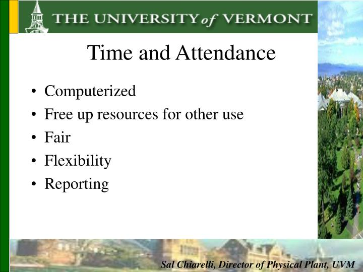 Time and Attendance