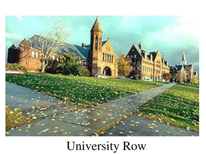 University Row