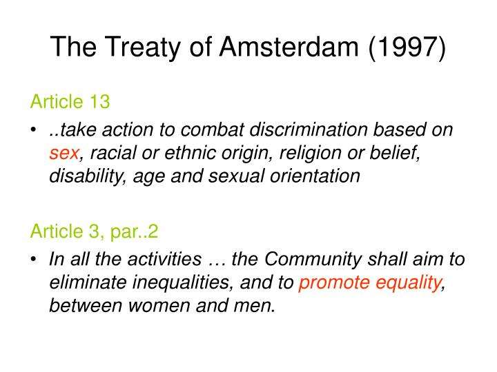 The Treaty of Amsterdam (1997)