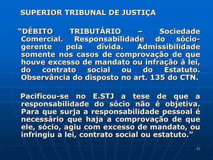 SUPERIOR TRIBUNAL DE JUSTIA
