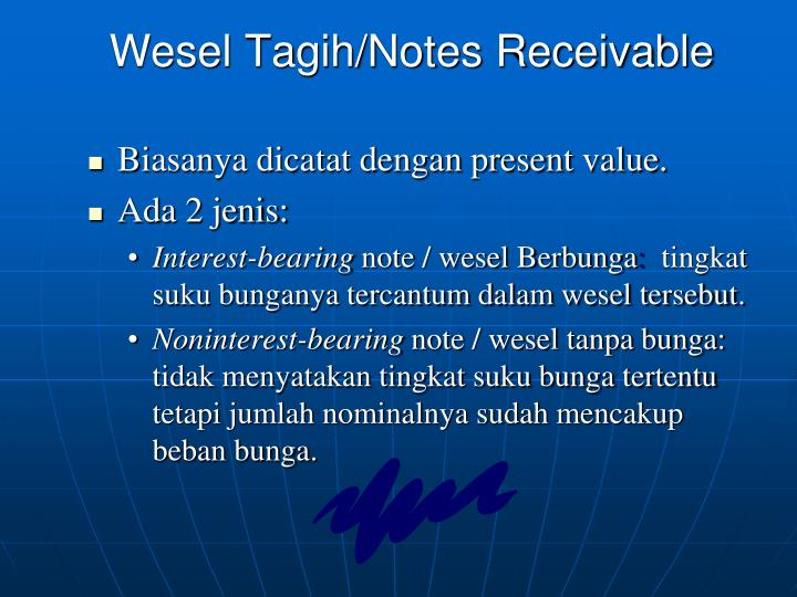 Wesel Tagih/Notes Receivable