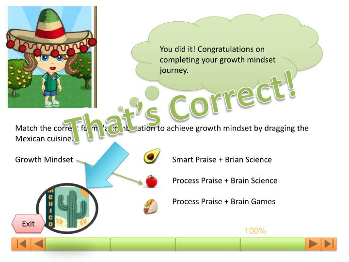 You did it! Congratulations on completing your growth mindset journey.