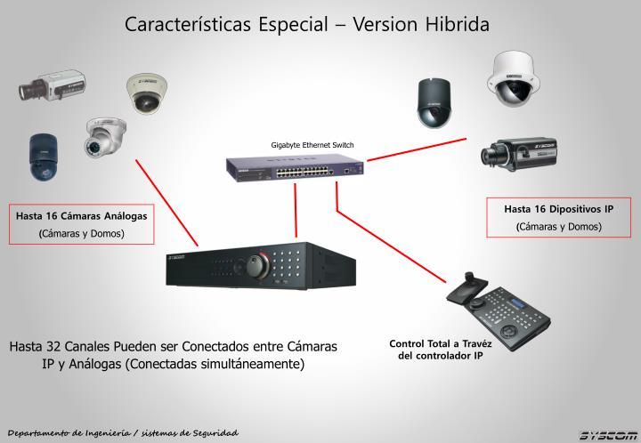 Características Especial – Version Hibrida