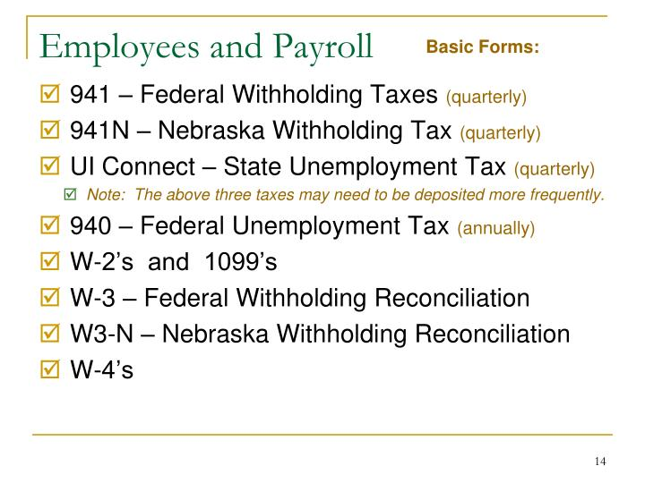 Employees and Payroll
