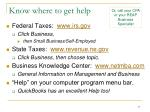 know where to get help