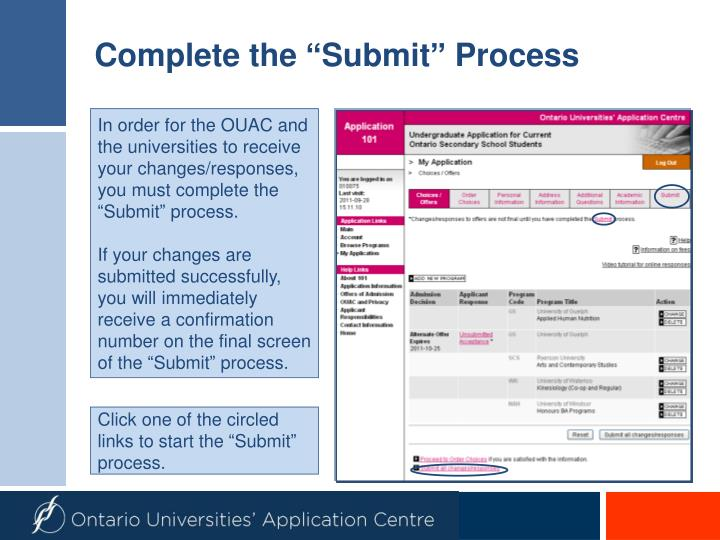 "Complete the ""Submit"" Process"