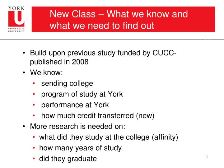 New Class – What we know and what we need to find out