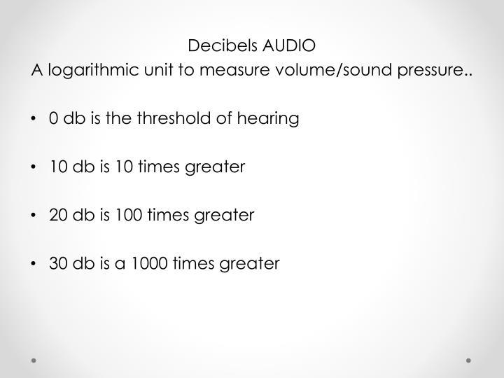 Decibels AUDIO