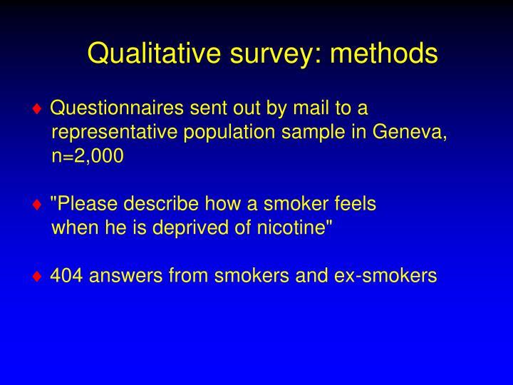 Qualitative survey: methods