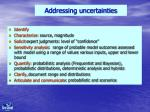 addressing uncertainties