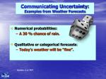 communicating uncertainty examples from weather forecasts