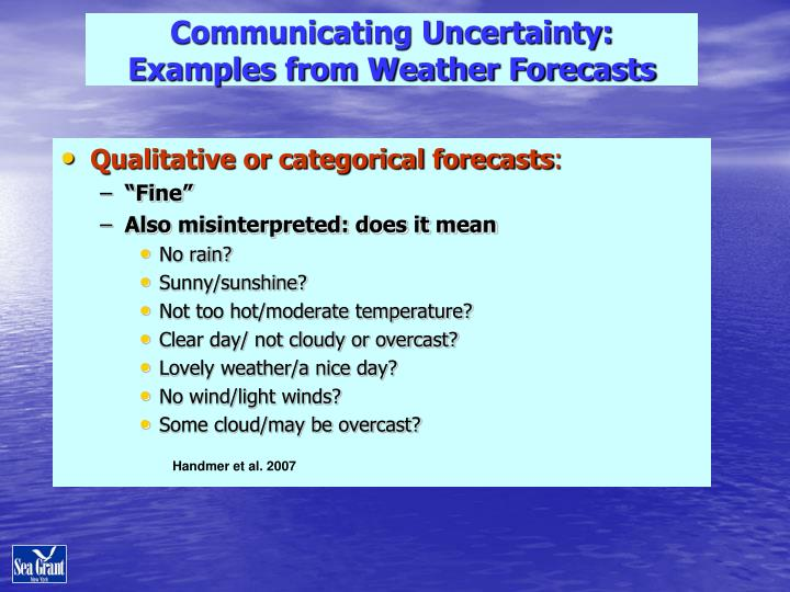 Communicating Uncertainty: