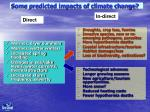 some predicted impacts of climate change