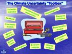 the climate uncertainty toolbox
