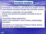 uncertainty paradigms