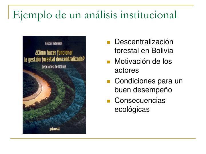 Ejemplo de un análisis institucional