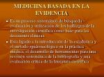 mediciina basada en la evidencia